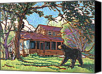 Black Bear Cubs Canvas Prints - Bears at Barton Cabin Canvas Print by Nadi Spencer