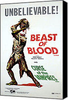 Decapitation Canvas Prints - Beast Of Blood, 1971curse Of The Canvas Print by Everett
