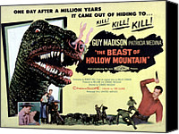 1956 Movies Canvas Prints - Beast Of Hollow Mountain, 1956 Canvas Print by Everett
