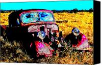 Purple Car Canvas Prints - Beatle Juice Canvas Print by Kurt Gustafson