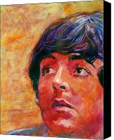 Singer Painting Canvas Prints - Beatle Paul Canvas Print by David Lloyd Glover