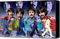 George Harrison Canvas Prints - Beatles - Walk Away Canvas Print by Ross Edwards