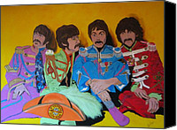 Lonely Hearts Club Band Canvas Prints - Beatles-Lonely Hearts Club Band Canvas Print by Bill Manson