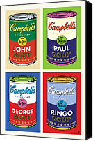 Airbrush Art Digital Art Canvas Prints - Beatles Soup Canvas Print by Gary Grayson