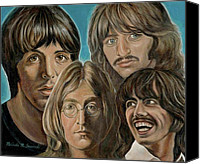 Melinda Saminski Canvas Prints - Beatles The Fab Four Canvas Print by Melinda Saminski