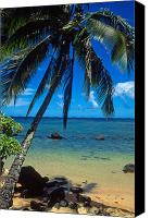 Beach Prints Canvas Prints - Beautiful Anini Beach  Canvas Print by Kathy Yates