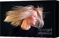 Hairstyle Canvas Prints - Beautiful blonde hair Canvas Print by Richard Thomas
