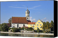 Wasserburg Canvas Prints - Beautiful church in Wasserburg Lake Constance Canvas Print by Matthias Hauser