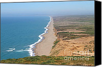 Headlands Canvas Prints - Beautiful Coastline of Point Reyes California . 7D15965 Canvas Print by Wingsdomain Art and Photography