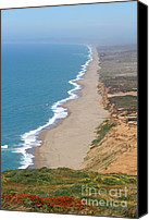 Headlands Canvas Prints - Beautiful Coastline of Point Reyes California . 7D15968 Canvas Print by Wingsdomain Art and Photography
