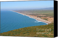 Headlands Canvas Prints - Beautiful Coastline of Point Reyes California . 7D16028 Canvas Print by Wingsdomain Art and Photography