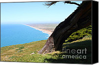 Headlands Canvas Prints - Beautiful Coastline of Point Reyes California . 7D16033 Canvas Print by Wingsdomain Art and Photography
