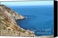 Headlands Canvas Prints - Beautiful Coastline of Point Reyes California . 7D16036 Canvas Print by Wingsdomain Art and Photography
