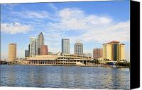 Tampa Canvas Prints - Beautiful Day Tampa Bay Canvas Print by David Lee Thompson