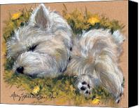 Westies Canvas Prints - Beautiful Dreamer Canvas Print by Mary Sparrow Smith