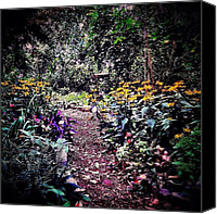 Nyc Canvas Prints - Beautiful Garden Path - New York City Canvas Print by Vivienne Gucwa