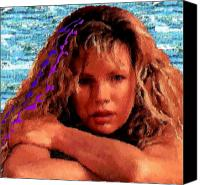 Kim Basinger Canvas Prints - Beautiful Kim Canvas Print by Navo Art