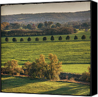 Mountain Scene Canvas Prints - Beautiful Landscape With Trees And Field Canvas Print by Fsn