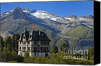 Architecture Photo Canvas Prints - Beautiful mansion in the swiss alps Canvas Print by Matthias Hauser