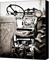 Tractor Canvas Prints - Beautiful Oliver Row Crop old tractor Canvas Print by Marilyn Hunt