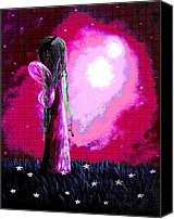 Fantasy Canvas Prints - Beautiful Pink Angel Fairy by Shawna Erback Canvas Print by Shawna Erback