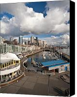 Puget Sound Canvas Prints - Beautiful Seattle Sky Canvas Print by Mike Reid