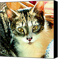 Tabby  Painting Canvas Prints - Beautiful Tabby Canvas Print by Elinor Mavor