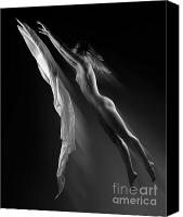 Color Stretching Canvas Prints - Beautiful Woman Flying Towards the Light Canvas Print by Oleksiy Maksymenko