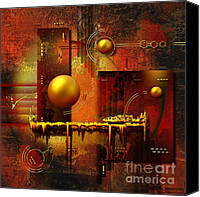 Circle Digital Art Canvas Prints - Beauty of an illusion Canvas Print by Franziskus Pfleghart