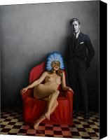 Nude Painting Canvas Prints - Beauty of the Carnival Canvas Print by Horacio Cardozo