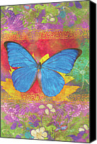 Home Painting Canvas Prints - Beauty Queen Butterfly Canvas Print by JQ Licensing