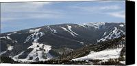 Snowboarder Canvas Prints - Beaver Creek Ski Resort Colorado Canvas Print by Brendan Reals
