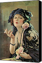Illustrator Canvas Prints - Bebe Daniels Canvas Print by Stefan Kuhn