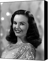 1946 Movies Canvas Prints - Because Of Him, Deanna Durbin, 1946 Canvas Print by Everett