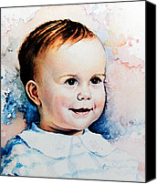 Child Portraits Canvas Prints - Becky Canvas Print by Hanne Lore Koehler