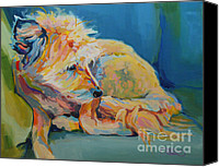 Kimberly Santini Canvas Prints - Bed Head Canvas Print by Kimberly Santini