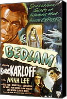 1946 Movies Canvas Prints - Bedlam, Boris Karloff, Anna Lee, 1946 Canvas Print by Everett