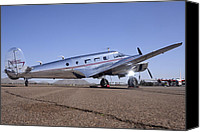Casa Grande. Canvas Prints - Beech model D18S N5804C Cactus Fly-in March 2 2012 Canvas Print by Brian Lockett