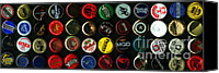 Bottle Caps Canvas Prints - Beer Bottle Caps . 3 to 1 Proportion Canvas Print by Wingsdomain Art and Photography