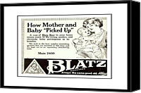 Blatz Beer Canvas Prints - Beer For Babies Canvas Print by Rianna Stackhouse