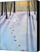 Forest Pastels Canvas Prints - Before Dusk in Deep Snow Canvas Print by Christine Kane