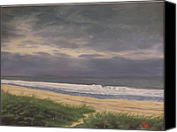 Grey Clouds Painting Canvas Prints - Before Isabella Canvas Print by Robert Decker