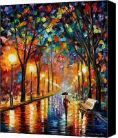 Afremov Canvas Prints - Before The Celebration Canvas Print by Leonid Afremov