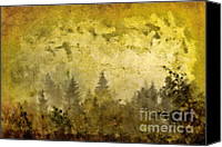 Mountain Scene Mixed Media Canvas Prints - Before The Storm Canvas Print by Dariusz Gudowicz