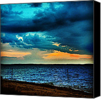 Beach Canvas Prints - Before The Storm Canvas Print by Katie Williams