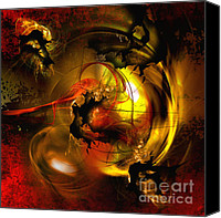 Circle Digital Art Canvas Prints - Behind the Curtain Canvas Print by Franziskus Pfleghart