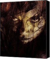 Black Widow Canvas Prints - Behind the veil Canvas Print by Gun Legler