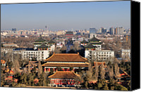 Drum Canvas Prints - Beijing Central Axis Skyline, China Canvas Print by Huang Xin