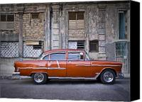 Habana Canvas Prints - Bel Air Chevrolet - Havana Cuba Canvas Print by Artecco Fine Art Photography - Photograph by Nadja Drieling