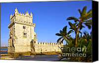 Unesco Canvas Prints - Belem Tower Canvas Print by Carlos Caetano